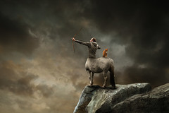 sagittarius (Mattijn) Tags: archer centaur cat ginger rock arrow starsign zodiac