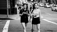 Look (McLovin 2.0) Tags: crossing street candid streetphotography urban city bw blackandwhite monochrome portrait sydney summer sony a7r zeiss 55mm stripes style fashion eyes