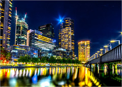 Southbank (niggyl (well behind)) Tags: southbank melbourne yarrariver longexposure night nightlights nightphotography nightscape nightsky cityscape citylights reflection bridge fujifilm fuji fujifilmxt2 fujixt2 xt2 samyang samyang12mmf2 samyang12mm samyang12mmf20ncscs samyangcsc12mmf20ncscs river stars buildings architecture water