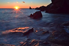 Symphony of the Sea (Polaris93) Tags: sea waves rocks seascape sunset sun