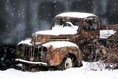Derelict (Joe P Regan) Tags: abandoned derelict oldtruck idle snow winter rust