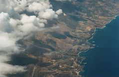 0065-0301-18 (jimbonzo079) Tags: flight gq284 ath kgs 2018 aerial land landscape mount mountain cloud naxos island cyclades aegean sea greece shore coast canon ae1 fd 135mm f25 lens kodak gold 200 kodakgold200 aircraft airplane air line aviation view window sky express trip travel world europe analog film 35mm 135 color colour art vintage old hellas kos kalymnos summer vacation onboard transport passenger naxosisland aegeansea canonae1 fd135mmf25 water grain