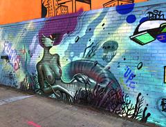 Mermaid by Fours (wiredforlego) Tags: graffiti mural streetart urbanart aerosolart publicart williamsburg brooklyn newyork nyc ny fours trace1