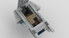 Digitally Modified Lego Millennium Falcon 2.0: Mandible Module Interior (Evrant) Tags: lego star wars millennium falcon 75105 modified mods digital starship spaceship ship y t yt 1300 freighter module interior evrant