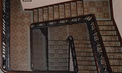 Staircase, Titanic Hotel, Belfast (John D McDonald) Tags: staircase stairs lino linoleum banister handrail balustrade offices harlandwolffoffices harlandwolffheadquarters shipyardoffices shipbuilders shipbuilding shipyard halandandwolff harlandwolff hw titanichotel belfast eastbelfast queensroad titanicquarter queensisland countydown codown northernireland ni ulster geotagged edwardian nikon d3300 nikond3300