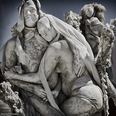 The Embrace (WayneToTheMax) Tags: burning man art body cast embrace dust chalk woman nikon d750 2018