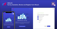 Wilio - Survey and Multipurpose Form Wizard (Ansonika Themes) Tags: comments formemail opinion quotation quote registration reviews signup survey wizardform