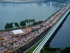 Sans titre 31 (Claude  BARUTEL) Tags: border causeway customs harbor harbour jam johorbaru malaysia port singapore trafficjam transport truck trucking