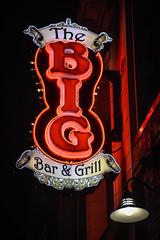 BIG (tim.perdue) Tags: big bar grill sign neon light high street north osu campus ohio state university columbus red nikon d5600 nikkor 18140mm