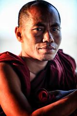 Portrait Of A Burmese Monk On U Bein Bridge, Myanmar (El-Branden Brazil) Tags: myanmar burma burmese monks buddhism buddhist southeastasia asian asia mandalay ubeinbridge happyplanet asiafavorites