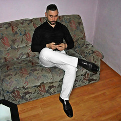 Spartacus (199) (@the.damned.spartacus) Tags: male muscle hunk big chest hairy gym bulge suited daddy man suits suite loafers shoes shirt fetish beard bear style