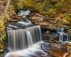 Delaware Waterfall (Manns Woodland Perspective) Tags: waterfall waterfalls fall flowing water leaves breath taking landscapes