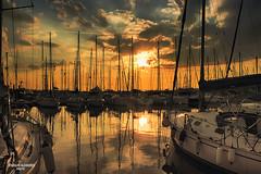 Palaio Faliro (aspinoulas67) Tags: sunset boats port travel tourism vacation nikon clouds sea athens greece photography photographer seasons seascape view