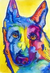 Dog, by Selma B. - DSC04245 (Dona Minúcia) Tags: art painting watercolor study paper animal dog bud friend cute atte pintura aquarela cão cachorro amigo companheiro fofo gracinha