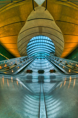 A view into another world (singulartalent) Tags: canarywharf uk architecture design escalator geometry london markhigham network tfl transport tube