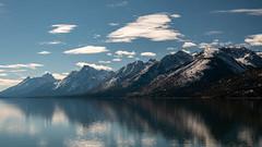 Jackson Lake ((JAndersen)) Tags: jacksonlake grandteton tetons grandtetonnationalpark wyoming usa mountains snow water reflection clouds landscape nikon nikkor20005000mmf56 d810