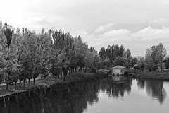 _DSC0542 (hechizodeluna) Tags: riotormes molino blancoynegro salamanca reflejo otoño acequia
