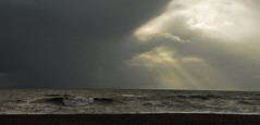 English Channel (richwat2011) Tags: nov18 kent southernengland southcoast coast coastline shore shoreline thechannel englishchannel lamanche clouds cloudscape water sea waves dungeness nikon d200 18200mmvr storm stormysky stormyskies darkclouds darksky moodysky moodyclouds 10faves