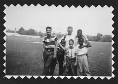 Hal Carter (center), counselor '54 and '55