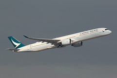 B-LXB, A350-1000, Cathay Pacific, Hong Kong (ColinParker777) Tags: airbus a350 a3501000 a3501041 a35j a35k airliner airplane aeroplane plane aircraft fly flying flight travel takeoff depart departure cx cpa cathay pacific airways airlines air hkg vhhh hong kong chek lap kok airport hksar barges ships ship reclamation water ocean sea river delta pearl 3rd runway terminal canon 7d 7d2 7dmk2 7dmkii 7dii 200400 lens l zoom telephoto pro blxb