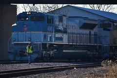 Conductors On The Ground, Ahead 20 (R.G. Five) Tags: union pacific up 4141 george h w bush 41st president train railroad funeral switching bloomington il