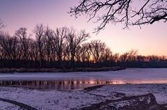 Winter Sunset at Maple Island - Kettle River, Minnesota (Tony Webster) Tags: kettleriver minnesota saintcroixstatepark stcroixstatepark frozen ice river riverlanding snow statepark sunset trees winter