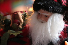 Santa Claus Doll Close Up (blackunigryphon) Tags: santaclaus doll christmastoys toy bokeh