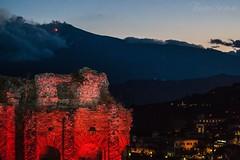 Etna dal Teatro antico di Taormina