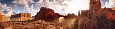 Horizon Zero Dawn (Matze H.) Tags: horizon zero dawn desert snow mountains monument sun sunrise sunset clouds steppe playstation 4 pro uhd hdr 4k wallpaper panorama