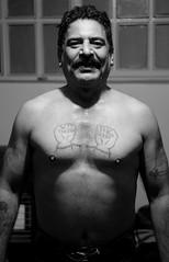 Zourkhaneh leader, Kerman (2018) (MarcoFlicker) Tags: pahlevani zourkhaneh rituals kerman iran leader strenght house captain tattoo old school fuji xe1 fujinon xf 50 f2