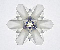 Snowflake (Joseph Wu) (De Rode Olifant) Tags: origami josephwu snowflake paper paperart marjansmeijsters papiroflexia origamisnowflake