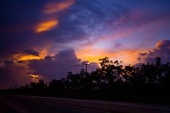 Sunset Behind Clouds (betadecay2000) Tags: channel isalnd northern territory australia australien blue hour blaue stunde darwin sunset sonnenuntergang abendrot freileitung hochspannung himmel sky weather wetter meteo orange blau weer wolken clouds cloud wolke ozeanien