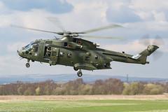 ZJ123 - 1999 build EH Industries EH.101 Merlin HC.3, post hot re-fuel at Barton (egcc) Tags: g 50129 barton cityairport egcb ehindustries eh101 helicopter lightroom manchester merlin merlinhc3 rn royalnavy westland zj123
