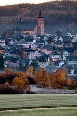 Essential Erzgebirge: Schneeberg (Autumn) I. (icarium.imagery) Tags: canoneos5dmarkiv sigma100400mmf563dgoshsm schneeberg erzgebirge germany city blue hour sunrise church rural