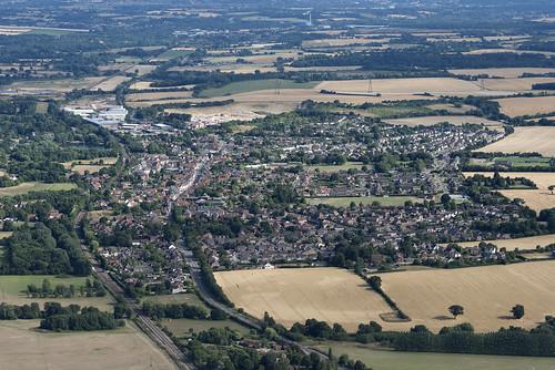 Aerial of Needham Market in Suffolk