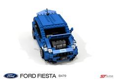 Ford Fiesta ST-Line (B479-2017) (lego911) Tags: ford motor company europe fiesta b479 stline hatch 5door hatchback 5dr 2017 ecoboost gtdi hothatch auto car moc model miniland lego lego911 ldd render cad povray afol