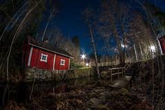 River cabin (Mygii) Tags: finland mikkeli samyang night longexposure cabin