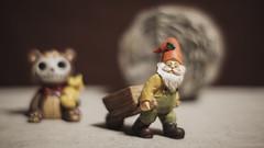 At Work (N.the.Kudzu) Tags: tabletop stilllife resin figurine furrybones gnome canoneosm 7artisans35mmf12 2lilowls lightroom preset