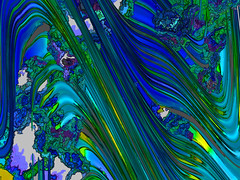 blue nature (j.p.yef) Tags: peterfey jpyef yef digitalart abstract abstrakt blue green grass plants