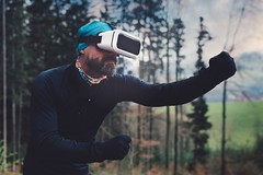 action-adult-augmented-reality-756439 (toptenalternatives) Tags: action adult augmented reality beard boxing boy daylight equipment forest game landscape light man outdoors outfit park person pose position recreation sports technology trees virtual glasses goggles headset vr wear