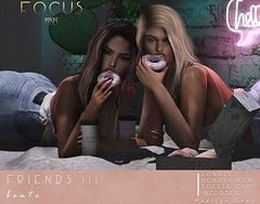 Friends 111 ([ Focus Poses ]) Tags: cosmopolitan second life event donuts bento poses