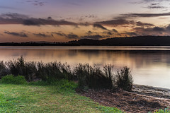 Early Morning Clouds and Reflections on the Bay (Merrillie) Tags: daybreak woywoy landscape nature bay reflections foreshore newsouthwales clouds earlymorning nsw brisbanewater australia cloudy morning coastal water outdoors waterscape sunrise centralcoast sky dawn