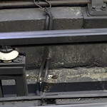 A small mouse on the tube tracks in London, at Holborn station thumbnail