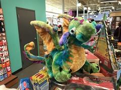 Cute dragons at Whole Foods (f l a m i n g o) Tags: store animal dragon stuffed toy