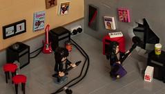 """Walk this way!"" - Aerosmith (Mark van der Maarel) Tags: 80s lego vignette moc minifgures afol rundmc aerosmith music"