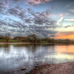 River sunset thumbnail