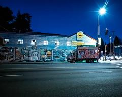 "It ""Shines"" when it shines! (alessio.vallero) Tags: ghetto graffiti weird lowlightphotography night california berkeley streetphotography"