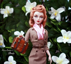 Discreet 🍃 (pure_embers) Tags: pure embers doll dolls uk pureembers photography laura england gene marshall hibiscus stepping high embersdoris doris portrait 40s 50s style classic elegant fashion melodom collector vintage rockabilly pinup ivy moss outfit discreet case flowers