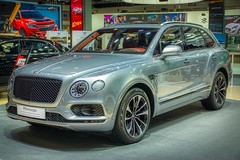 Bentley Bentayga luxury SUV at the 35th Thailand International Motor Expo in IMPACT Challenger Hall in Muang Thong Thani, Nonthaburi (UweBKK (α 77 on )) Tags: bentley bentayga luxury suv 35th 35 international thailand motor expo impact challenger hall show fair car auto automobile automotive silver grey muang thong thani nonthaburi bangkok southeast asia sony alpha 77 slt dslr