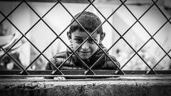 Looking In (#Weybridge Photographer) Tags: canon 5d mkii eos slr dslr nepal asia kathmandu mk ii child boy monochrome
